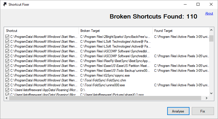 Shortcut Fixer