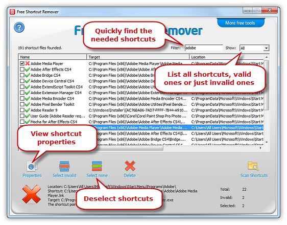 Filter Shortcuts & View Properties