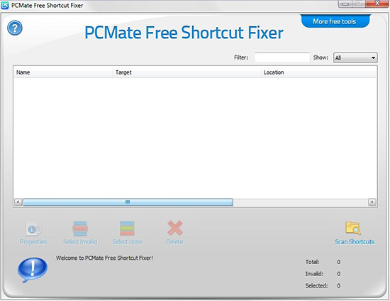 PCMate Free Shortcut Fixer