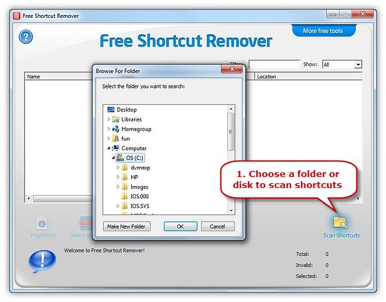 Scan Shortcuts