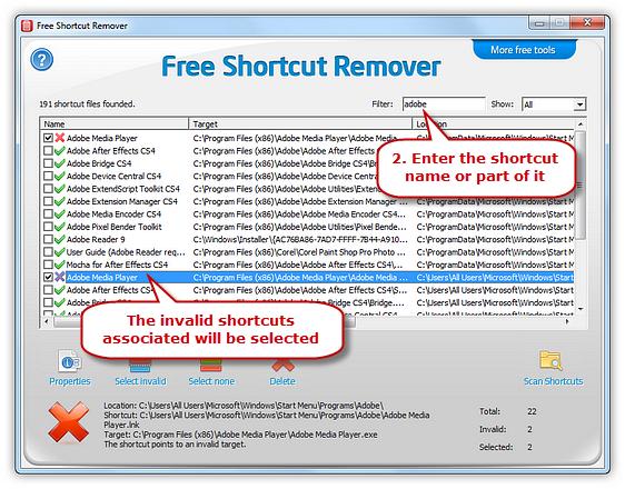 Filter Shortcuts